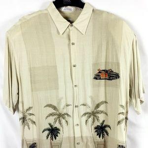 (8-046) Pierre Cardin Short Sleeve Button Down XL